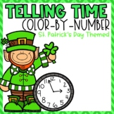 St. Patrick's Day Telling Time Color-By-Number