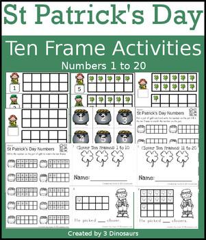 St Patrick's Day Ten Frame Activities (1-20)