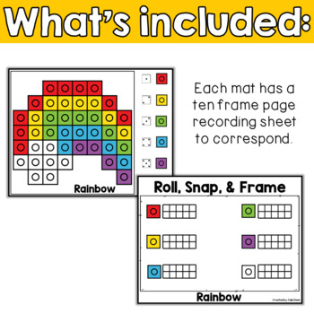 March Math Center | St Patrick's Day Activities Snap Cubes