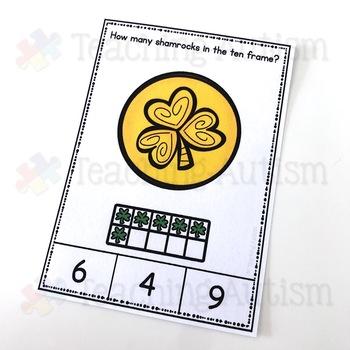 St. Patrick's Day Ten Frame Task Cards