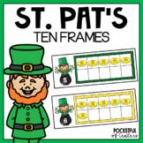 St. Patrick's Day Ten Frames using Mini Erasers