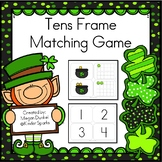 St. Patrick's Day Tens Frame Matching Game