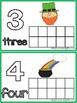 St. Patrick's Day Tens Frame Number Mats 1-20