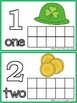 St. Patrick's Day Tens Frame Number Mats 1-20