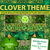 St Patricks Day Theme - Bulletin Borders, Editable Name Tags, and Poster