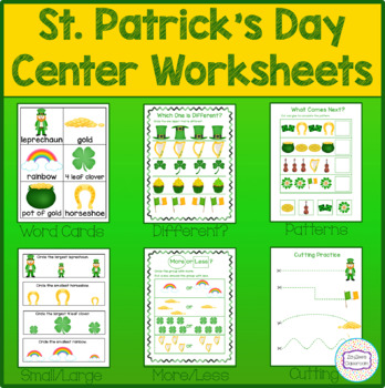 St. Patrick's Day Theme Center Worksheets