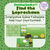 "St Patrick's Day Theme ""Feeling Lucky""  Leprechaun Game Editable Template"