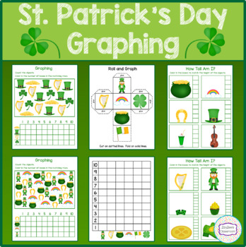St. Patrick's Day Theme Graphing - How Tall Am I - Roll & Graph