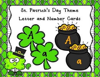 St. Patrick's Day Theme Letter and Number Cards - Two Sets