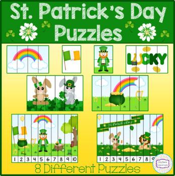 St. Patrick's Day Theme Puzzles (2, 4, 6, 10 piece)