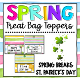 St. Patrick's Day Theme Treat Bag Toppers  for Teachers, S
