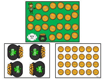 St. Patrick's Day Themed Articulation Board Games BUNDLE
