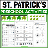 St. Patrick's Day Themed Centers and Activities for PreK and Kindergarten