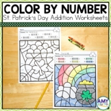 St. Patrick's Day Worksheets Color by Number (adding to 10)