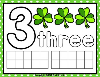 St. Patrick's Day Themed Counting (Playdough) Mats