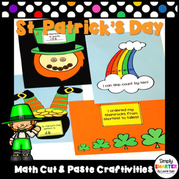 St. Patrick's Day Themed Cut and Paste Math Crafts