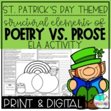 St. Patrick's Day Elements of Poetry and Prose Reading & Writing Activity
