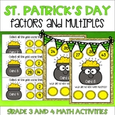 St. Patrick's Day Themed Factors and Multiples Activities