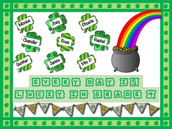 St Patrick S Day Themed March Bulletin Board By My Basset Ate Lesson Plans