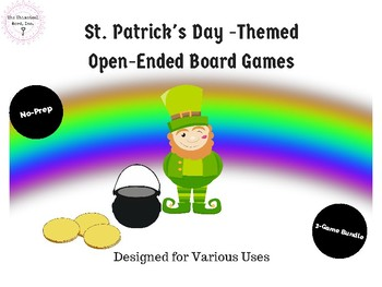 St. Patrick's Day Themed Open-Ended Board Games Speech Digital Teletherapy