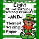 St. Patrick's Day Themed Opinion Writing