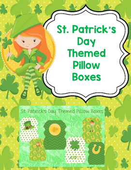 St. Patrick's Day Themed Pillow Boxes
