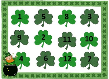St. Patrick's Day Themed Roll and Cover Math Center