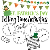 St. Patrick's Day Themed Time Telling Activities