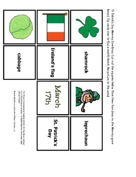 St. Patrick's Day Three Pack-- 3 FUN activities w/PICTURE SUPPORT!!