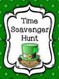 St. Patrick's Day Time Scavenger Hunt {1.MD.3}