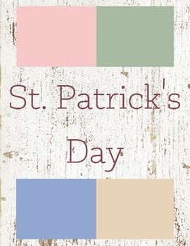 St. Patrick's Day Toddler Theme