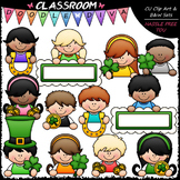 St. Patrick's Day Topper Kids - Clip Art & B&W Set