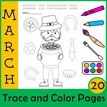 St. Patrick`s Day Trace and Color Pages