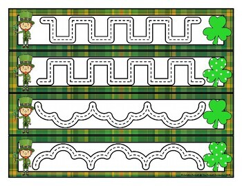 St. Patrick's Day PreWriting Tracing Cards