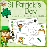 St. Patrick's Day Tracing - Prewriting & Writing Center Activities