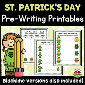 St. Patrick's Day Tracing Printables