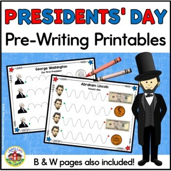 Presidents' Day Tracing Printables