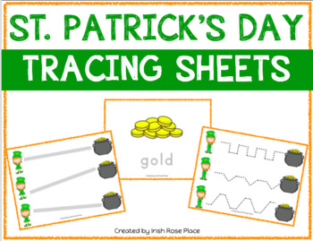 St. Patrick's Day Tracing Sheets