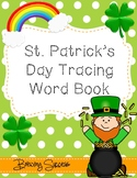 St. Patrick's Day Tracing Word Book