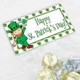 St. Patrick's Day Treat Bag Topper 4 Leaf Clover Horseshoe Leprechauns