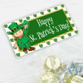 St. Patrick's Day Treat Bag Toppers w/ Leprechaun Lucky 4 Leaf Clover