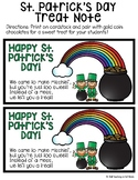 St. Patrick's Day Treat Tag Note