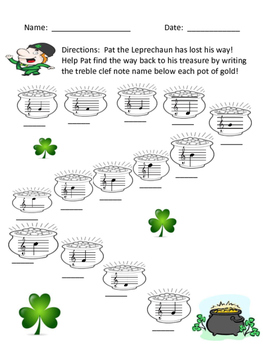 St. Patrick's Day Music Challenge: Treble Clef