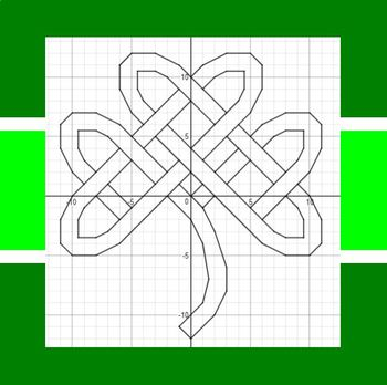 St. Patrick's Day - Tribal Shamrock - Math-Then-Graph - Solve 15 Systems