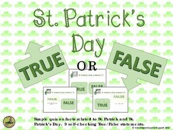 St. Patrick's Day True/False