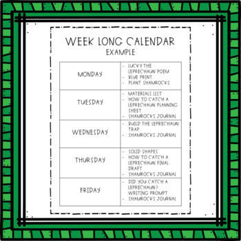 St. Patrick's Day Activities for a Week