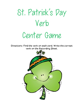 St. Patrick's Day Verb Center Game