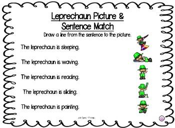 St.Patrick's Day Verbs, Pronouns, & Simple Sentences Packet