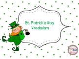 St. Patrick's Day Vocabulary