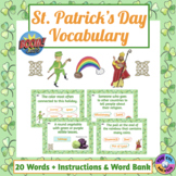 St. Patrick's Day Vocabulary Boom Cards™ (Distance Learning)